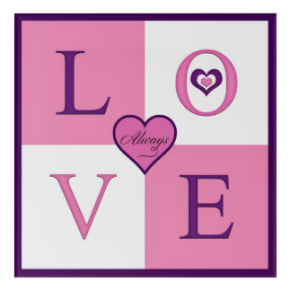 Always Love Square Acrylic Wall Art