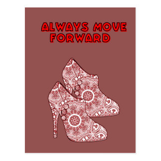 Always Move Forward Postcard