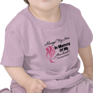 Always My Hero In Memory Grandmother Breast Cancer T-shirts