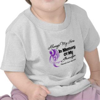 Always My Hero In Memory Grandpa - Pancreatic Canc Tee Shirts