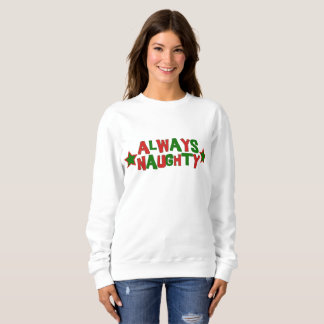 Always Naughty, Never Nice Roller Derby Christmas Sweatshirt