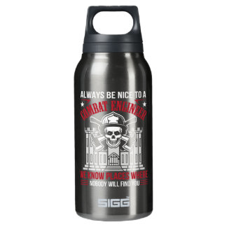 Always Nice Combat Engineer Nobody Find You Insulated Water Bottle