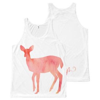 Always Pink Watercolor Doe Deer All-Over-Print Tank Top
