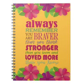 Always Remember You Are - Spiral Note Book