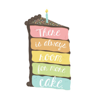 Always Room For Cake Birthday Card