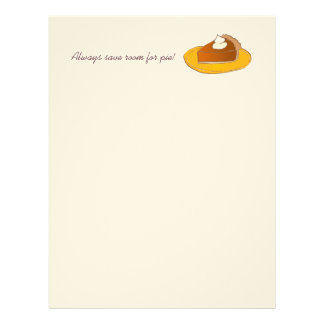 Always save room for pie! Thanksgiving paper Personalized Letterhead