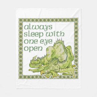 Always Sleep With One Eye Open Fleece Blanket