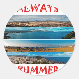 Always Summer Round Sticker