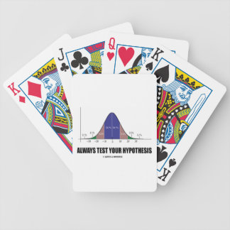 Always Test Your Hypothesis (Bell Curve Humor) Poker Deck