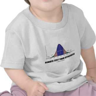 Always Test Your Hypothesis (Statistical Attitude) Tshirts
