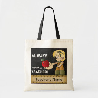 Always Thank a Teacher | DIY Text Tote Bag