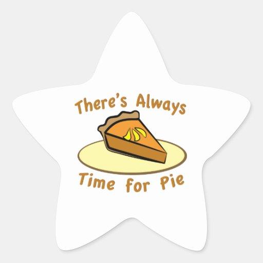 Always Time for Pie Star Stickers