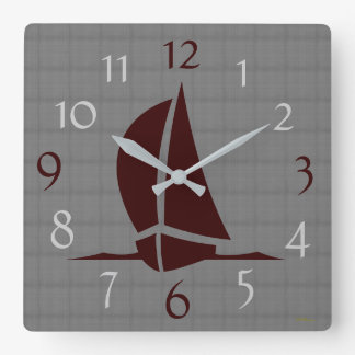 Always time for Sailing Square Wall Clock
