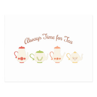 Always Time for Tea Postcard