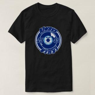 Always Vinyl- 45 Blue & White T-Shirt