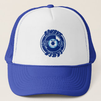 Always Vinyl- 45 Blue & White Trucker Hat
