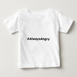 #AlwaysAngry-logo-black Baby T-Shirt