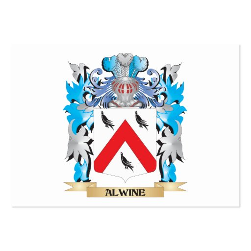 Alwine Coat Of Arms Business Cards