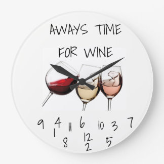 **ALWYS TIME FOR WINE** CLOCK