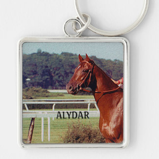 Alydar Belmont Stakes Post Parade 1978 Keychain