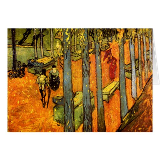 Alyscamps by Vincent Van Gogh Cards
