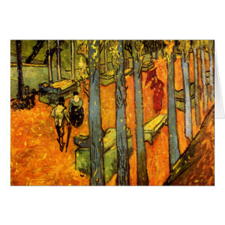 Alyscamps by Vincent Van Gogh Greeting Card