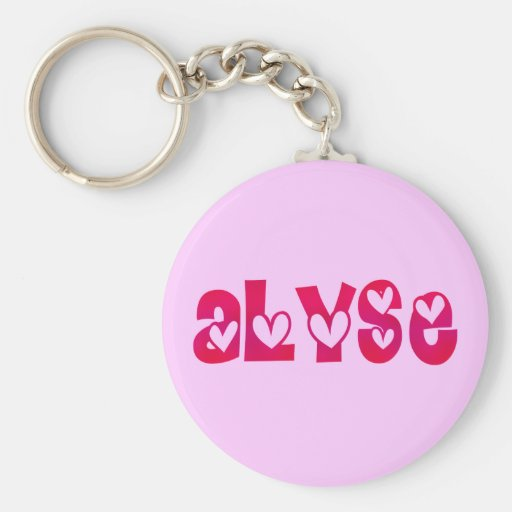 Alyse in Hearts Keychains