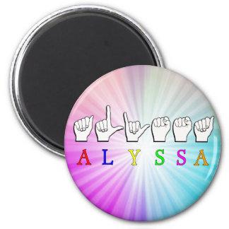 ALYSSA ASL FINGERSPELLED NAME SIGN DEAF MAGNET