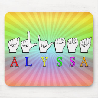 ALYSSA ASL FINGERSPELLED NAME SIGN DEAF MOUSE PAD