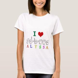 ALYSSA ASL FINGERSPELLED NAME SIGN DEAF T-Shirt