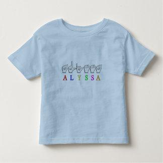 ALYSSA ASL FINGERSPELLED NAME SIGN DEAF TODDLER T-SHIRT