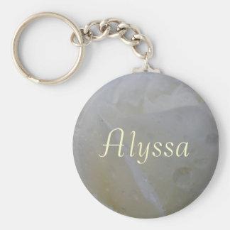 Alyssa Basic Round Button Keychain