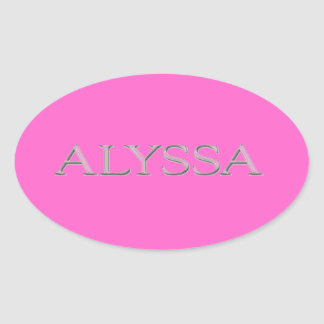 Alyssa Custom Raised Lettering Oval Sticker