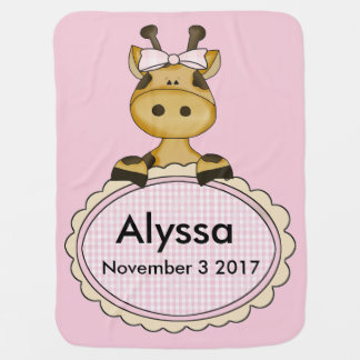 Alyssa's Personalized Giraffe Baby Blanket