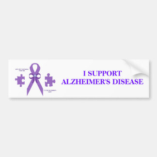 ALzheimer's Awareness Bumper Sticker