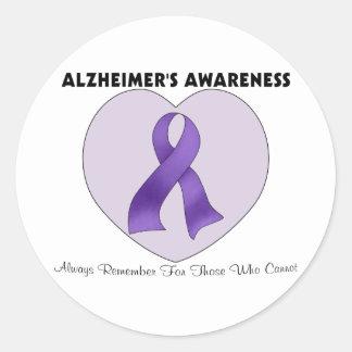 Alzheimer's Awareness Classic Round Sticker
