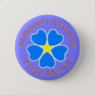 Alzheimer's Awareness forget me not button rd
