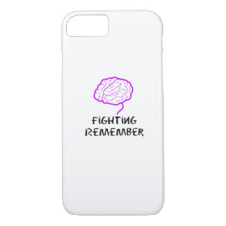 Alzheimers Awareness  Purple Fighting Remember iPhone 8/7 Case