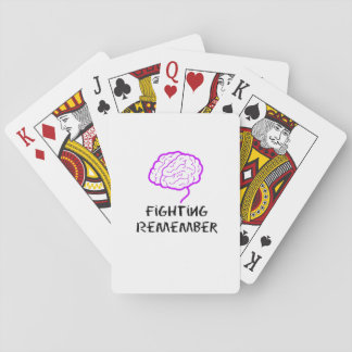 Alzheimers Awareness  Purple Fighting Remember Playing Cards