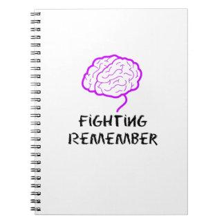 Alzheimers Awareness  Purple Fighting Remember Spiral Notebook