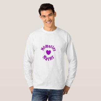 Alzheimers Awareness Purple Ribbon Memories Love T-Shirt