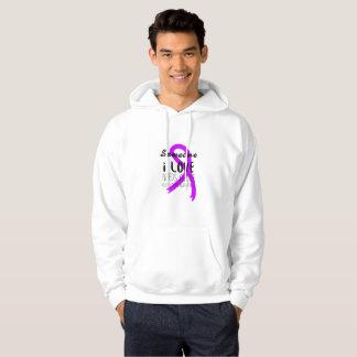 Alzheimers Awareness  Purple Ribbon Support Love Hoodie