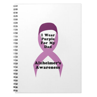 Alzheimers Awareness Wear For My Dad Gif Notebooks