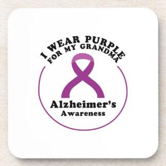 Alzheimers Awareness Wear For My Grandma Gift Coaster