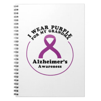Alzheimers Awareness Wear For My Grandma Gift Spiral Notebook
