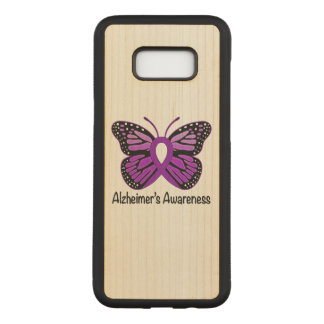 Alzheimer's Butterfly Awareness Ribbon Carved Samsung Galaxy S8+ Case