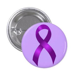 Alzheimers | Crohns & Colitis | Purple Ribbon 1 Inch Round Button