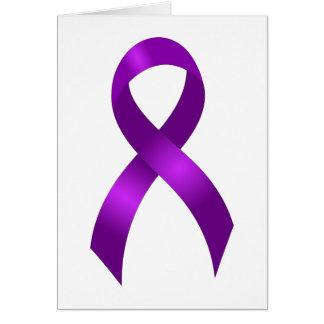 Alzheimers | Crohn's & Colitis | Purple Ribbon Card