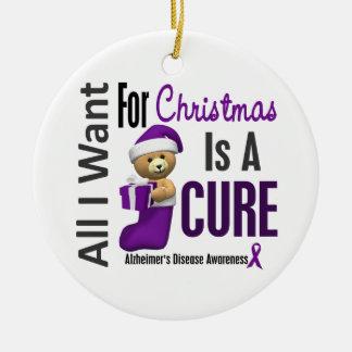 Alzheimer's Disease All I Want Christmas Ornaments