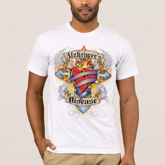 Alzheimers Disease Cross & Heart T-Shirt